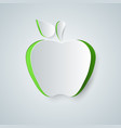 apple icon origami vector image vector image