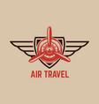 aviation training center emblem template vector image vector image