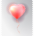 balloon pink heart set symbol of love gift vector image