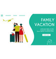 banner family vacation vector image vector image