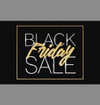 black friday sale banner background with glitter vector image vector image