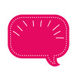 blank speech bubble tag vector image
