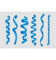 blue silk ribbons satin ribbons collection vector image