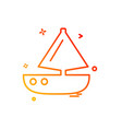 boat icon design vector image