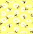 bright colored seamless pattern with cute bee vector image vector image