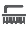 brush glyph icon clean and wash scrub brush sign vector image