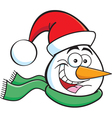 Cartoon Snowman Head vector image vector image