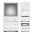 chest of drawers isolated on white vector image vector image