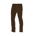 chino brown long pants fashion style item vector image vector image