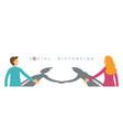 couple handshake shadow social distancing vector image