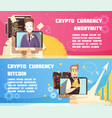 cryptocurrency horizontal banners vector image
