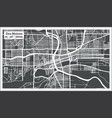des moines usa city map in retro style outline map vector image vector image