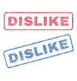 dislike textile stamps vector image vector image