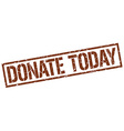 donate today stamp vector image vector image