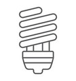 energy saving thin line icon ecology lamp vector image