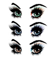 Evening eye make up vector image vector image