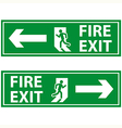 fire exit 2 vector image vector image