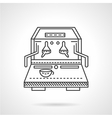 Flat line coffee machine icon vector image