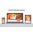 flat vegetarian menu concept vector image