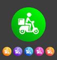 food delivery icon flat web sign symbol logo label vector image