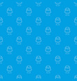 glass ice cream pattern seamless blue vector image vector image