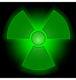 Glowing radioactive symbol vector image