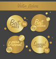 gold stickers set concept for web sites banners vector image vector image