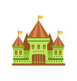green fairy tale castle with brown roof vector image vector image