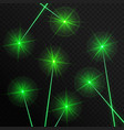 green laser beams vector image vector image