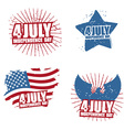 Grunge sign for Independence Day in America Star vector image vector image