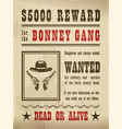 guns and hat on wanted sign or wild west banner vector image