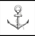 hand drawn nautical anchor vector image vector image