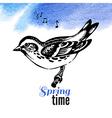 hand drawn sketch bird vector image vector image
