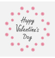 happy valentines day love card round frame vector image vector image