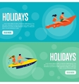 Holidays Website Template Set Horizontal banners vector image vector image