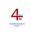 july fourth happy independence day america poster vector image vector image