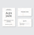 marble grunge wedding invitation card template vector image vector image
