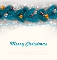 Merry Christmas Background with Fir Branches vector image vector image