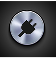 metal icon on gray background Eps10 vector image vector image