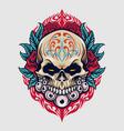 mexico sugar skull dia de los muertos vector image vector image