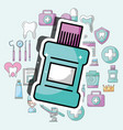 mouthwash dental care and treatment vector image
