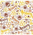 Natural honey seamless pattern vector image vector image