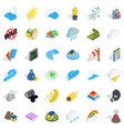 no war icons set isometric style vector image vector image