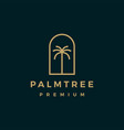palm tree gold logo icon vector image vector image