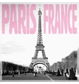 Paris France - Romantic card with quote and vector image vector image