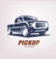 pickup car stylized symbol logo or emblem vector image vector image