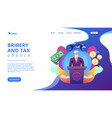 political corruption concept landing page vector image vector image