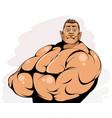 portrait an attractive bodybuilder vector image