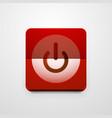 power button technology logo digital art techno vector image vector image