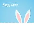 Rabbit ears Easter banner vector image